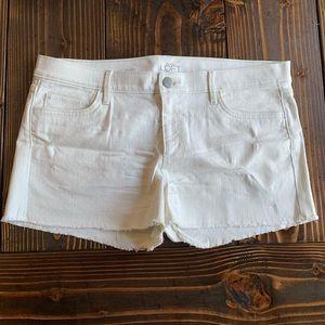 NWOT Ann Taylor LOFT white denim shorts size 31 12